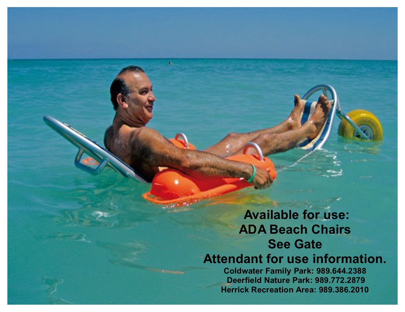ADA Beach Chair Promotion