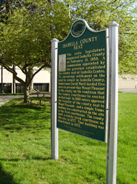 Isabella County Seat Historic Sign