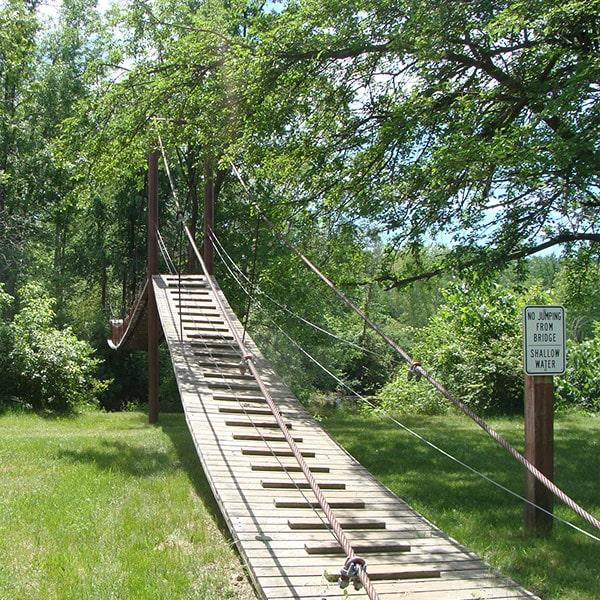 Deerfield Park Swing Bridge