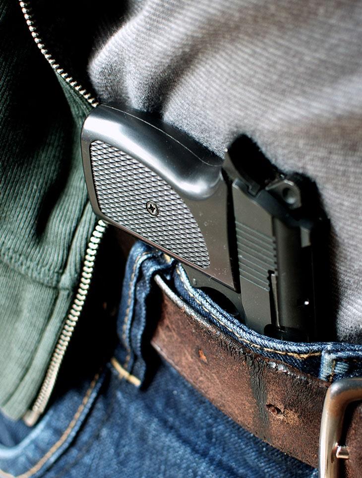 gun in pant waist