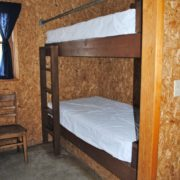 inside cabin bunk beds