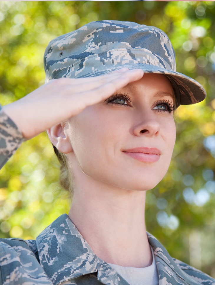 woman in military
