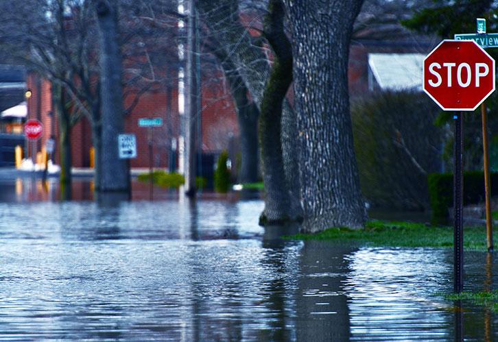 street flooded