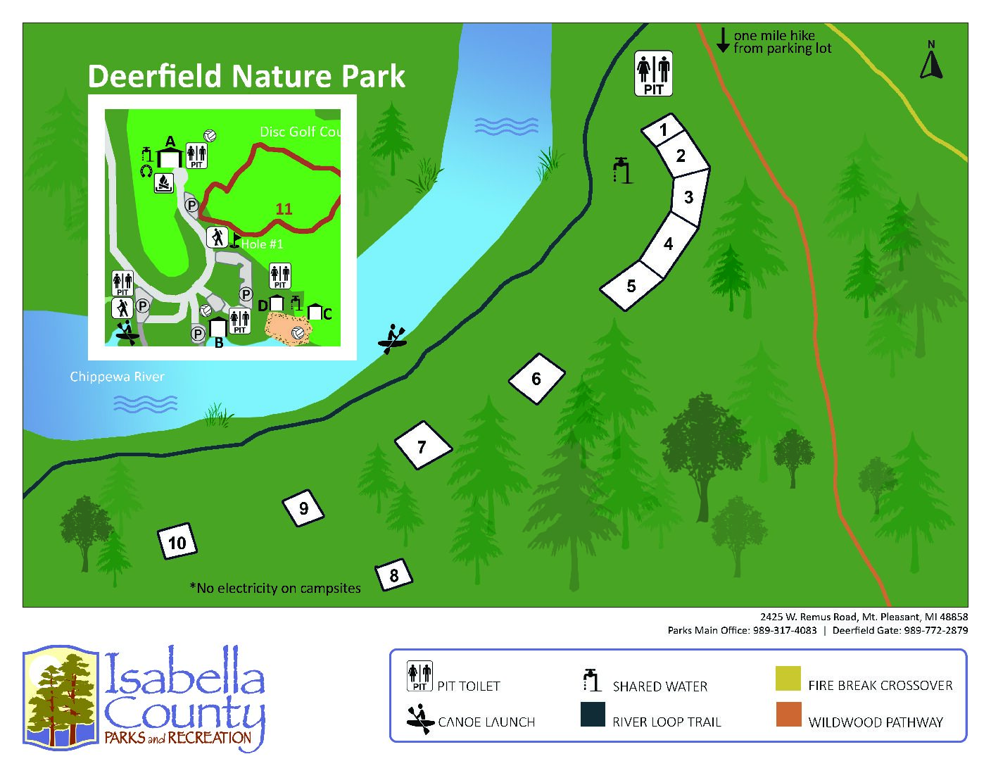 preview image of first page Deerfield Nature Park Campground Map