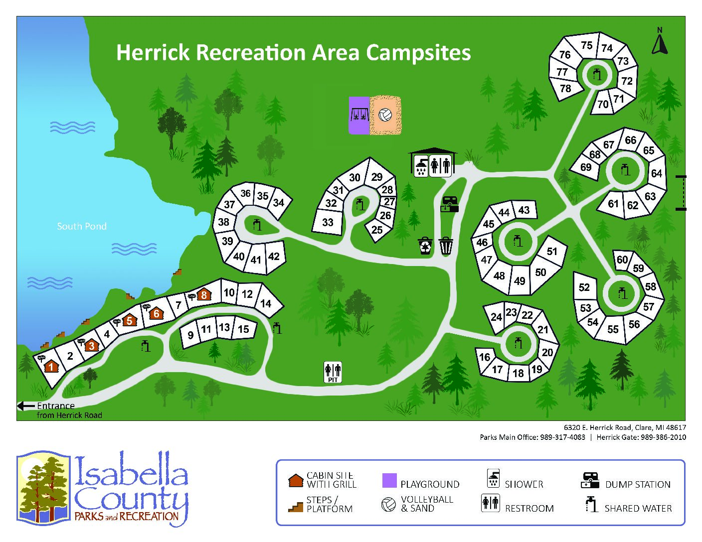preview image of first page Herrick Recreation Campground Map