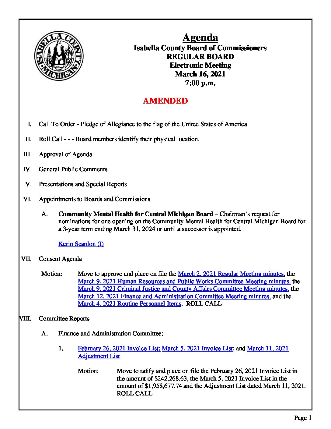 preview image of first page March 16, 2021 Agenda