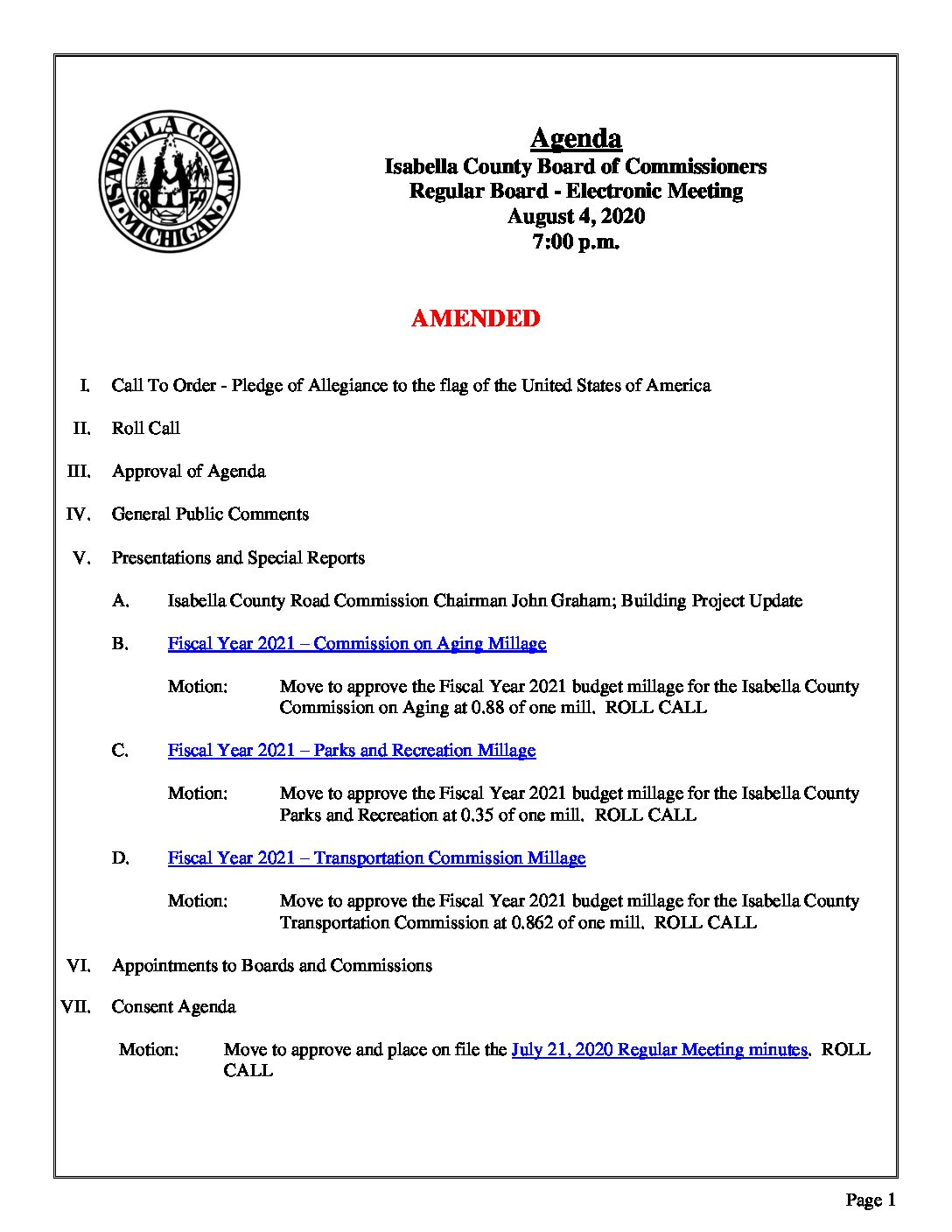 preview image of first page August 4, 2020 Agenda