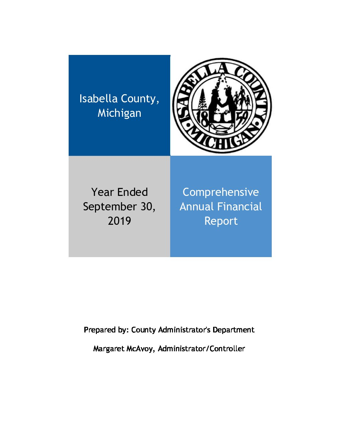 preview image of first page Isabella County 2019 Audit