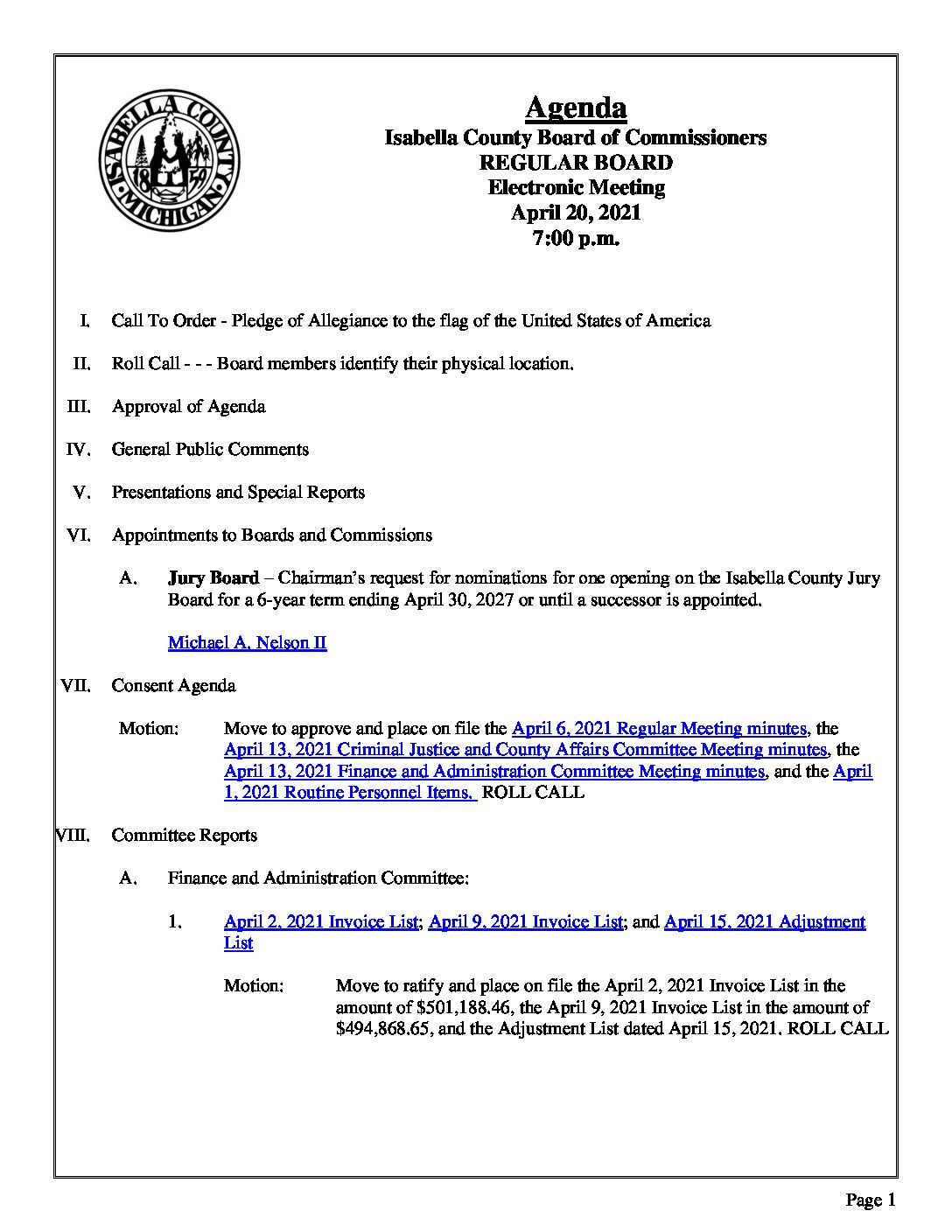 preview image of first page April 20, 2021 Agenda