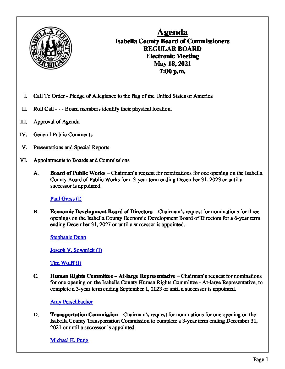 preview image of first page May 18, 2021 Agenda