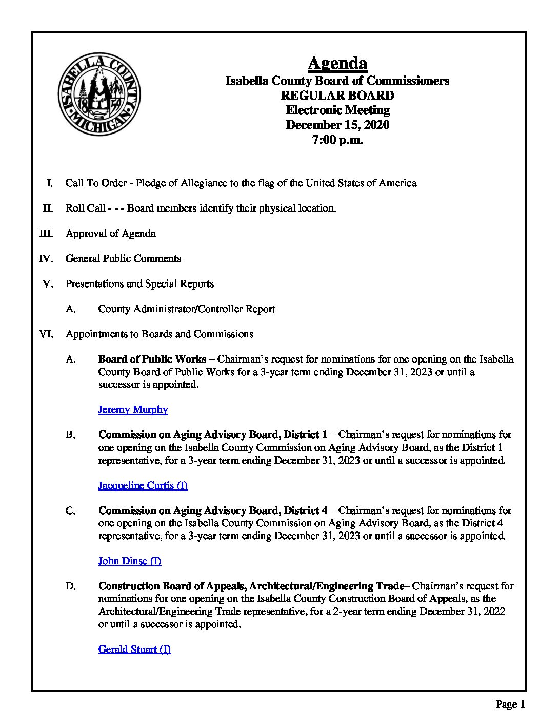 preview image of first page December 15, 2020 Agenda