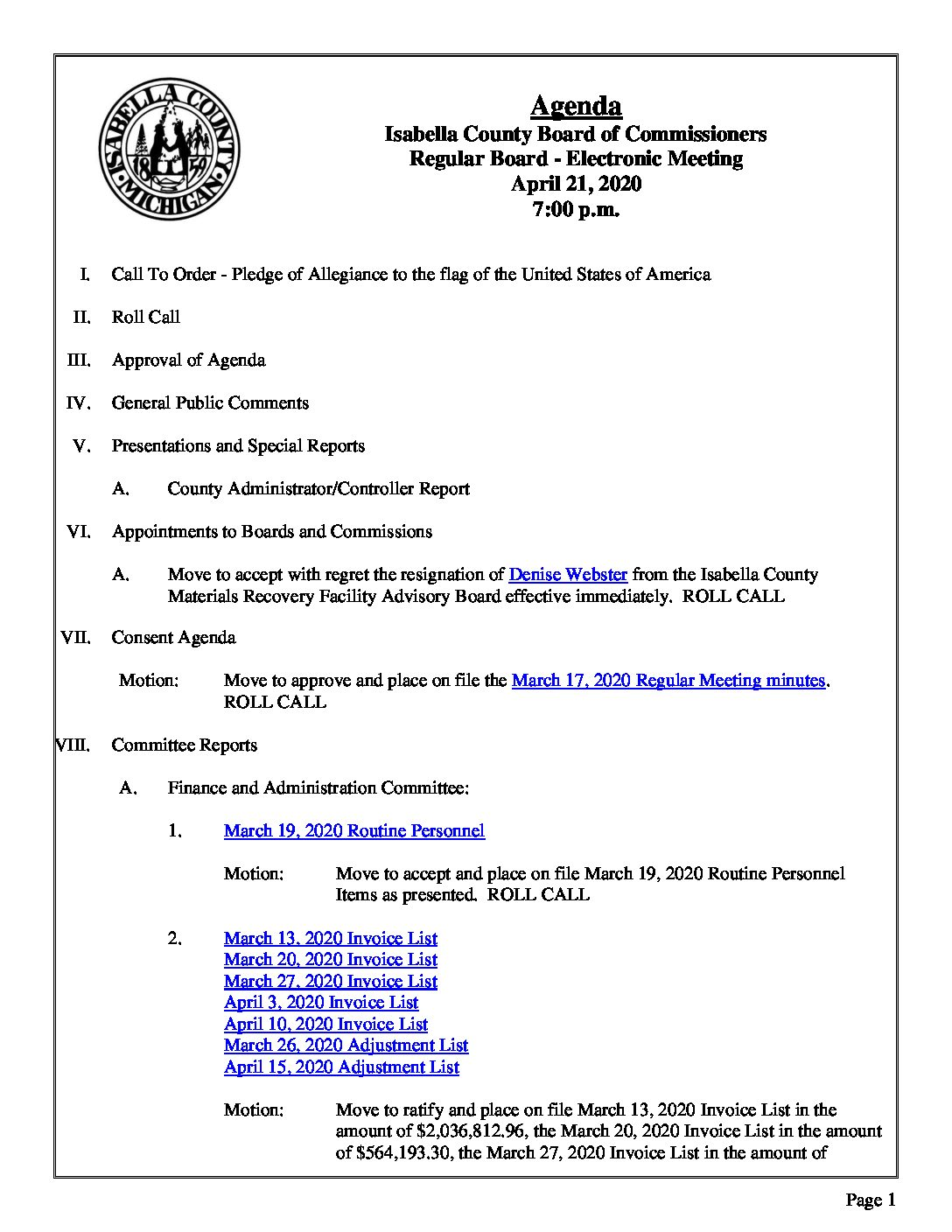 preview image of first page April 21, 2020 Agenda