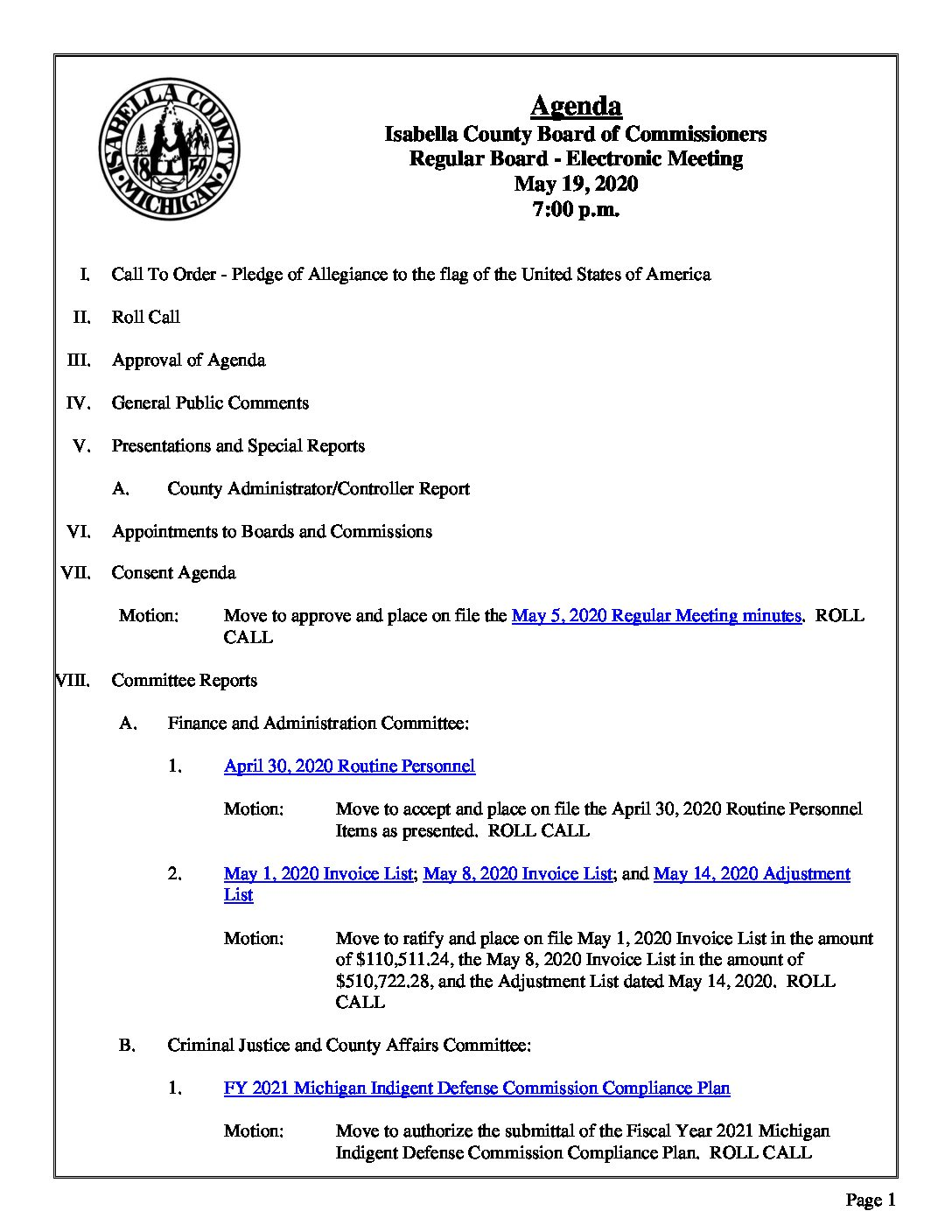 preview image of first page May 19, 2020 Agenda