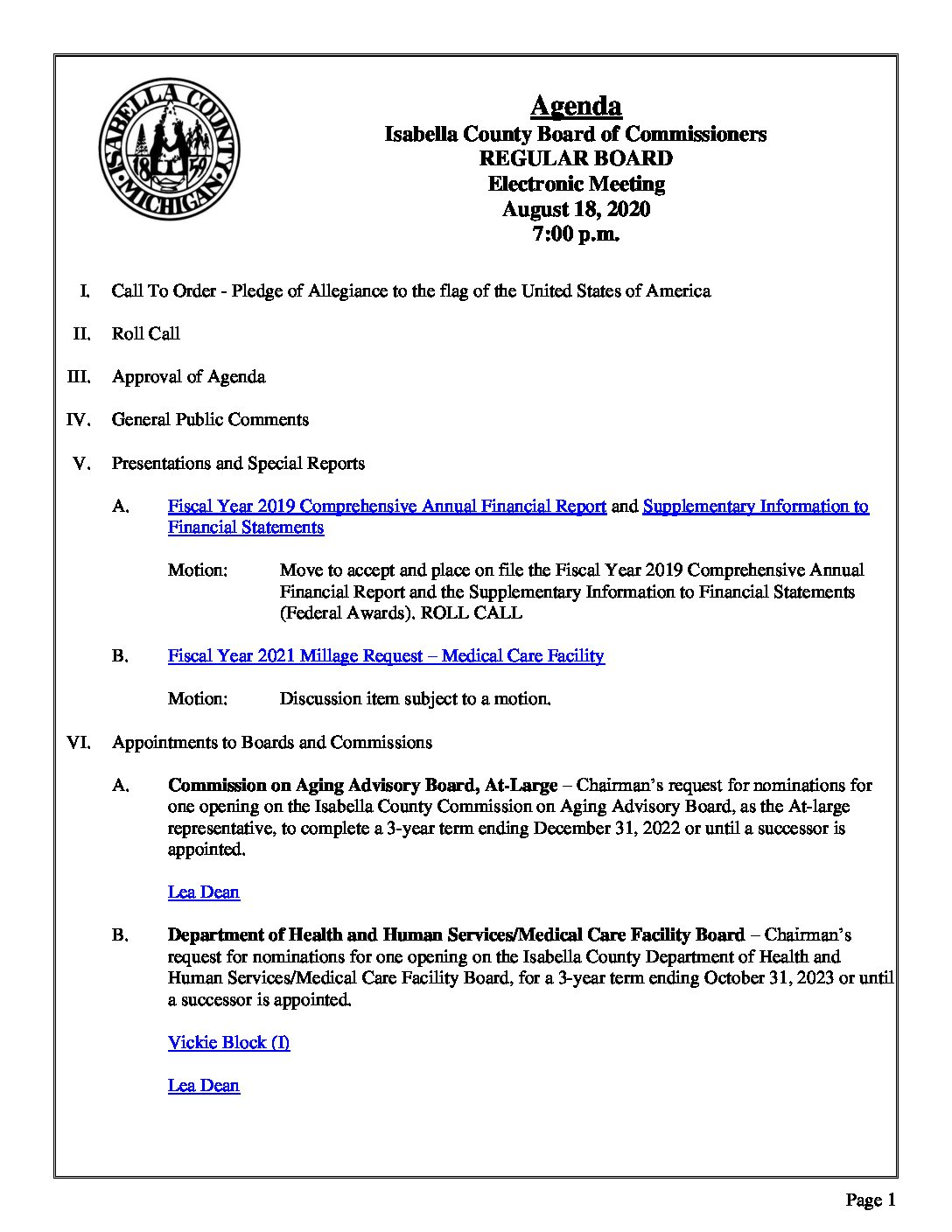 preview image of first page August 18, 2020 Agenda