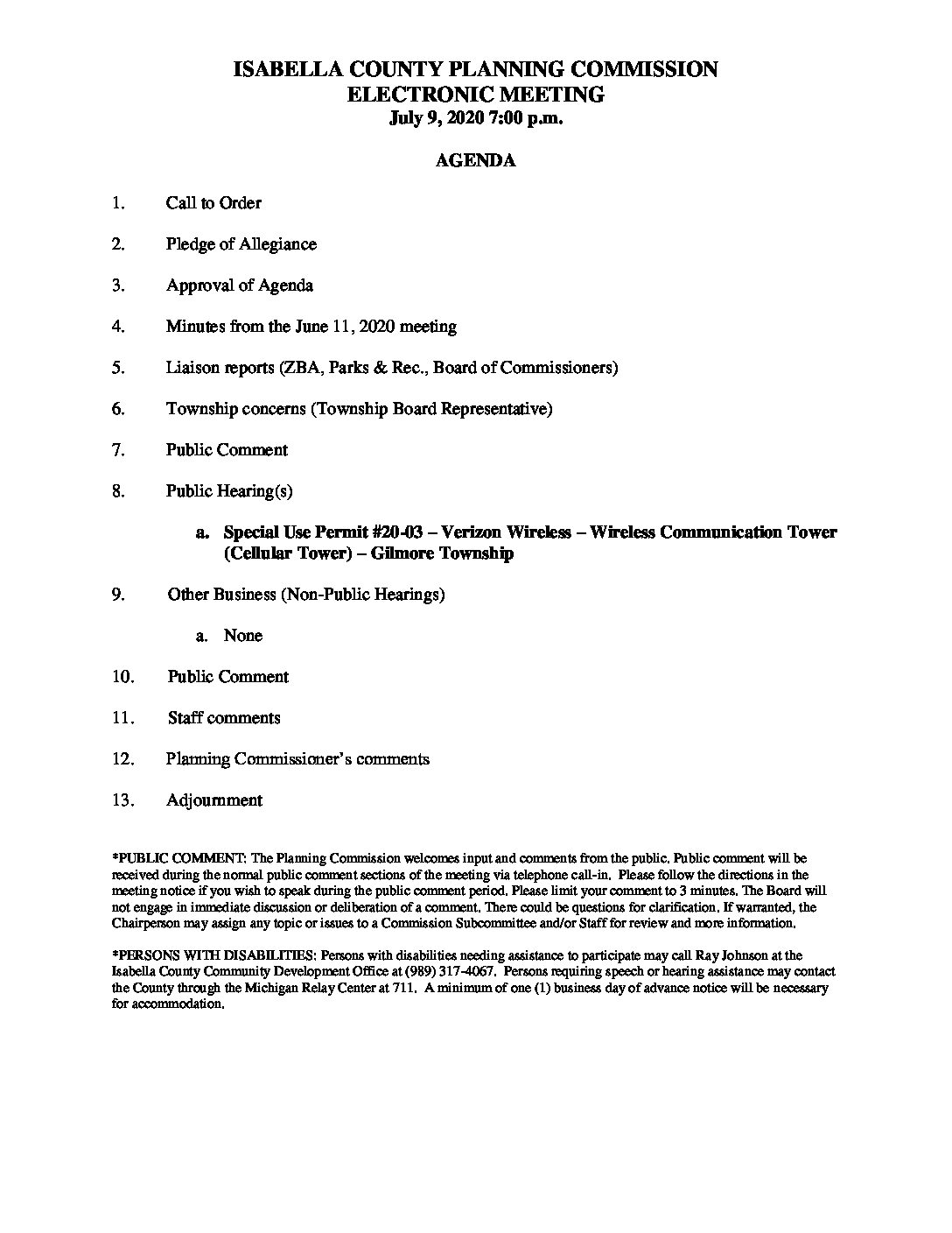 preview image of first page July 9, 2020 Agenda