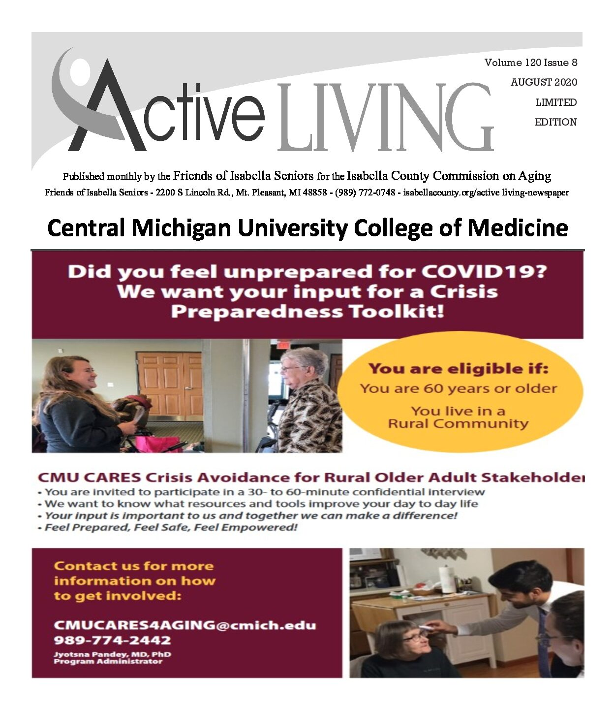 preview image of first page August Active Living