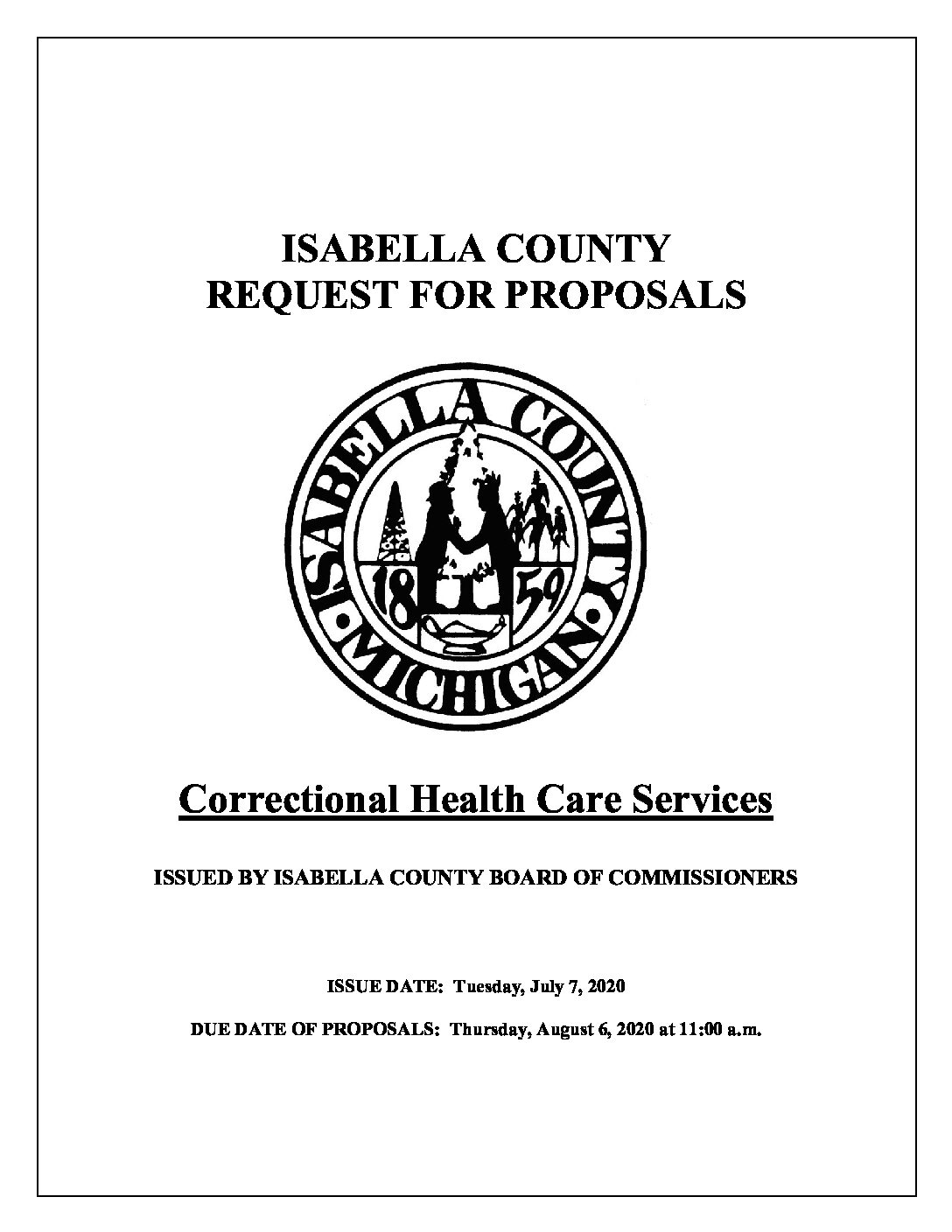 preview image of first page Isabella County Correctional Health Care Services RFP