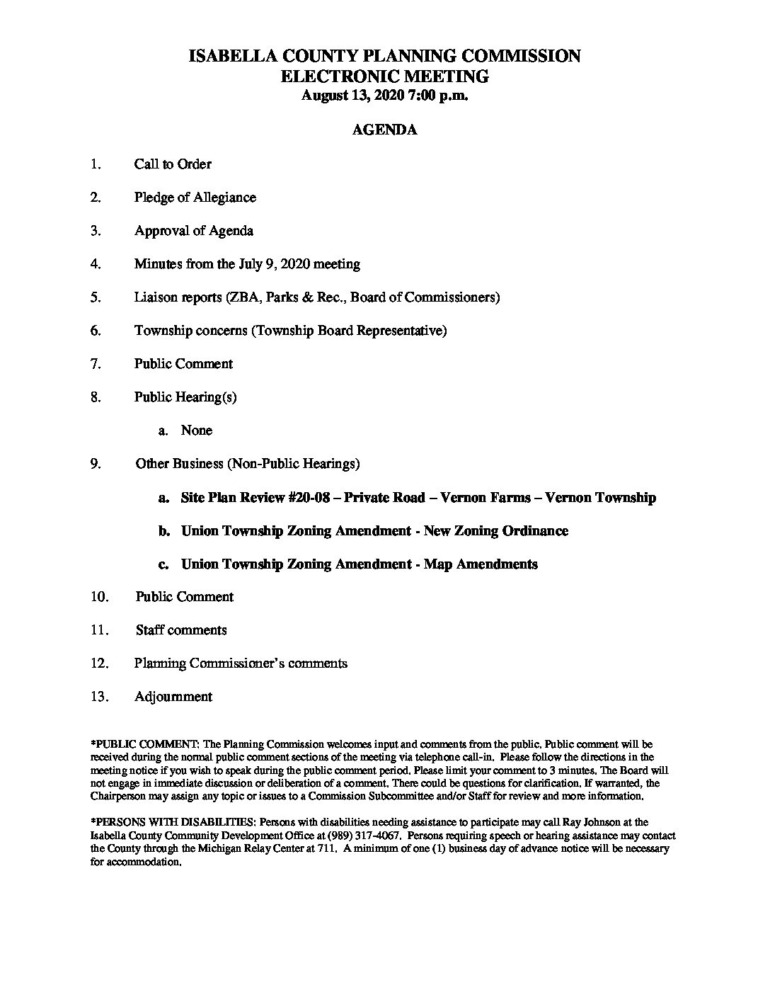 preview image of first page August 13, 2020 Agenda