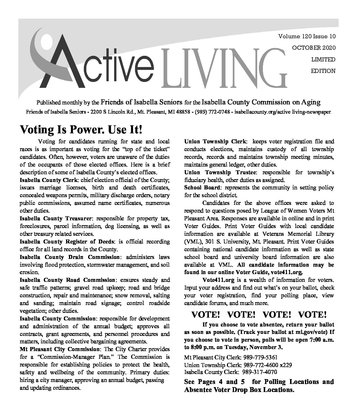 preview image of first page October Active Living
