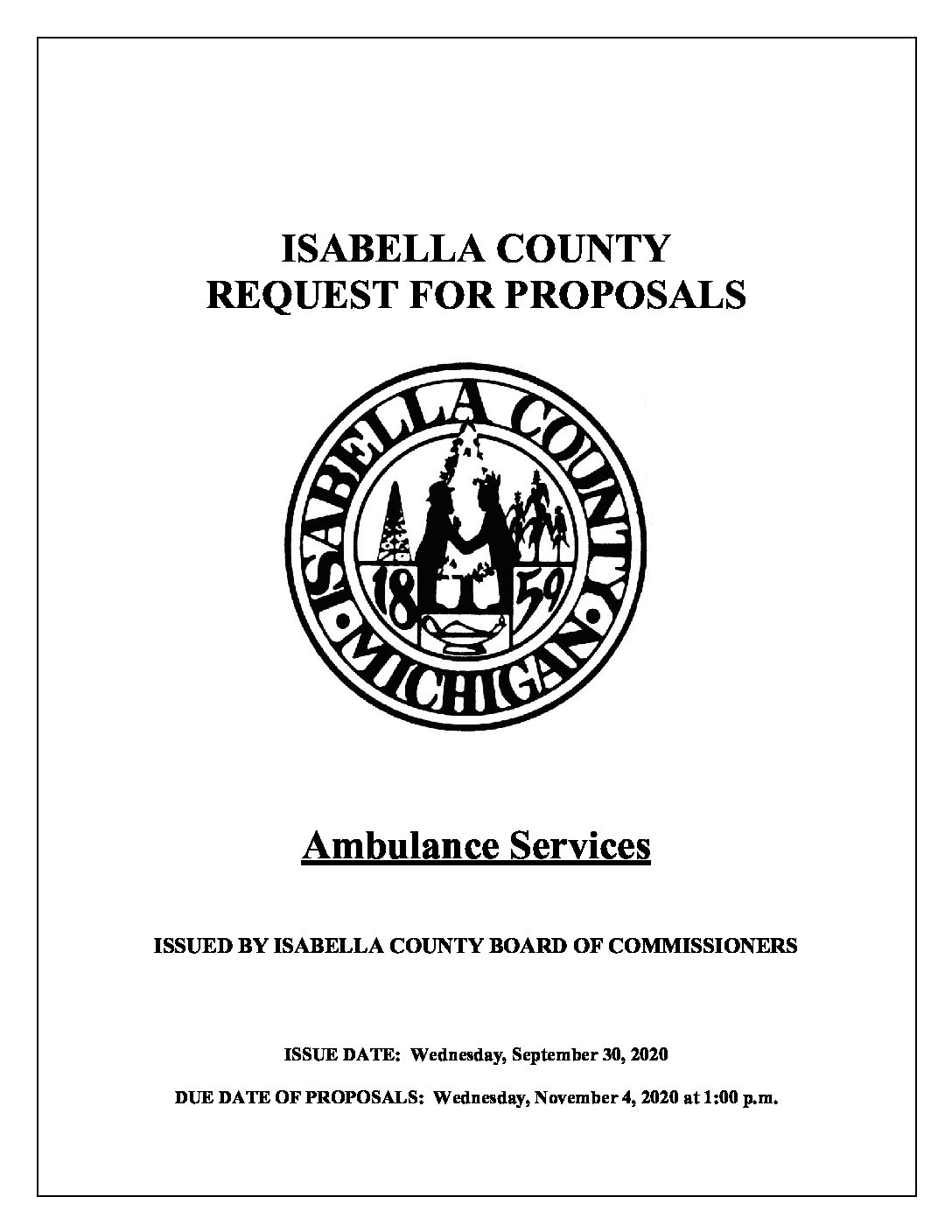 preview image of first page Ambulance Service Request for Proposals