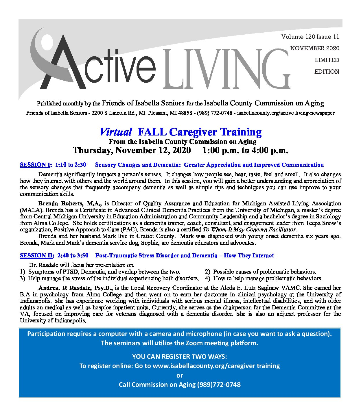 preview image of first page November Active Living