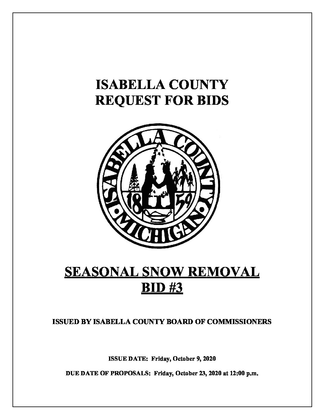 preview image of first page Seasonal Snow Removal #3 RFB