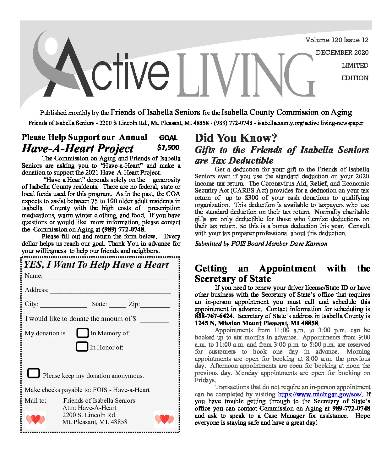 preview image of first page December 2020 Active Living