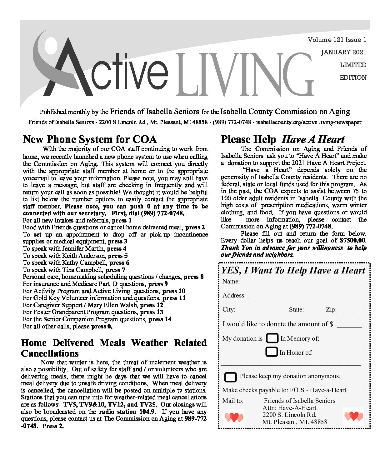 preview image of first page January 2021 Active Living