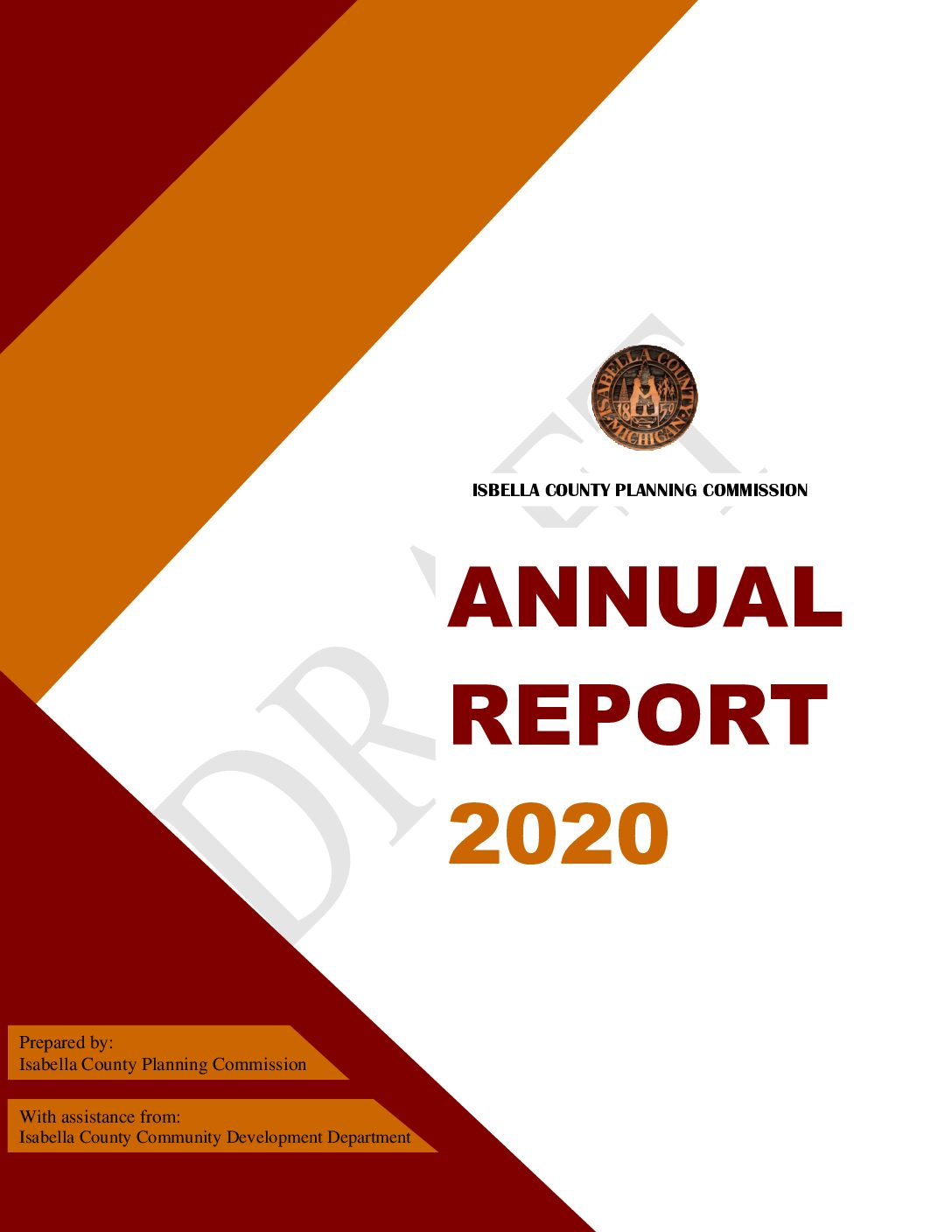 preview image of first page 2020 Planning Commission Annual Report (Draft)