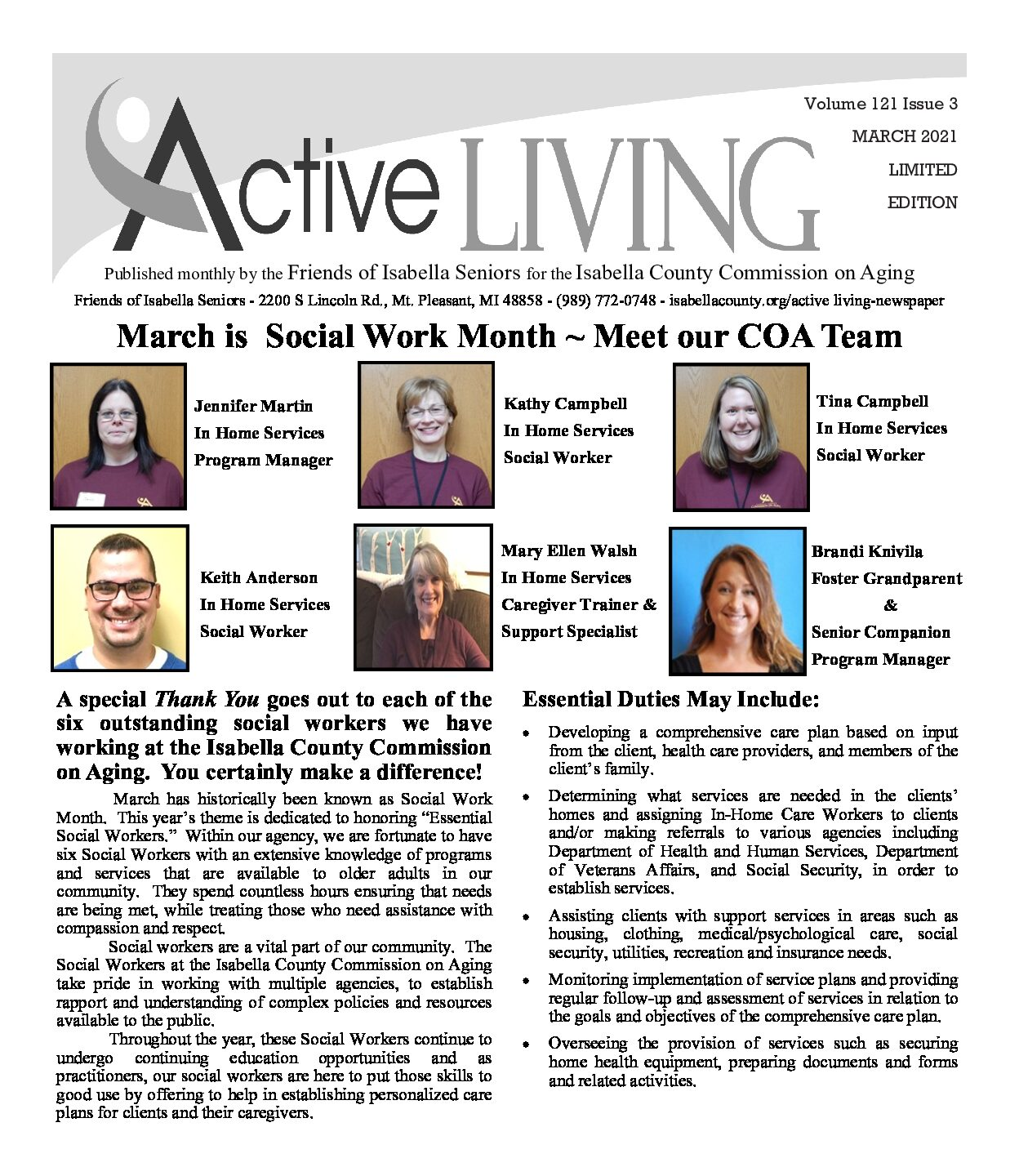 preview image of first page March 2021 Active Living