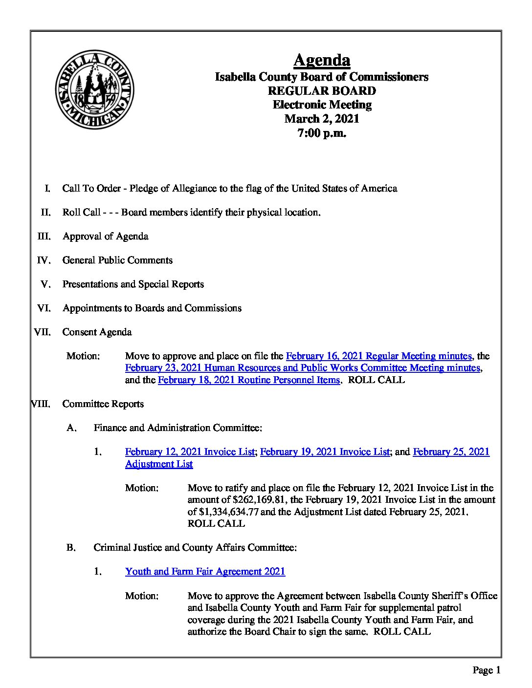preview image of first page March 2, 2021 Agenda