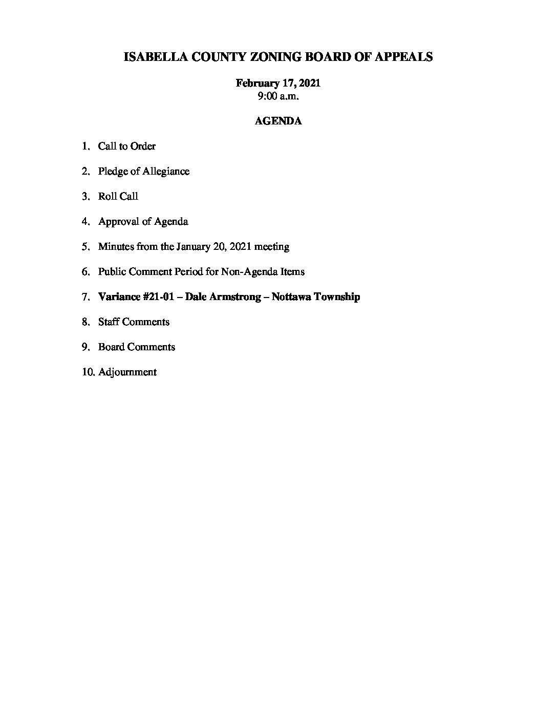 preview image of first page February 17, 2021 Agenda
