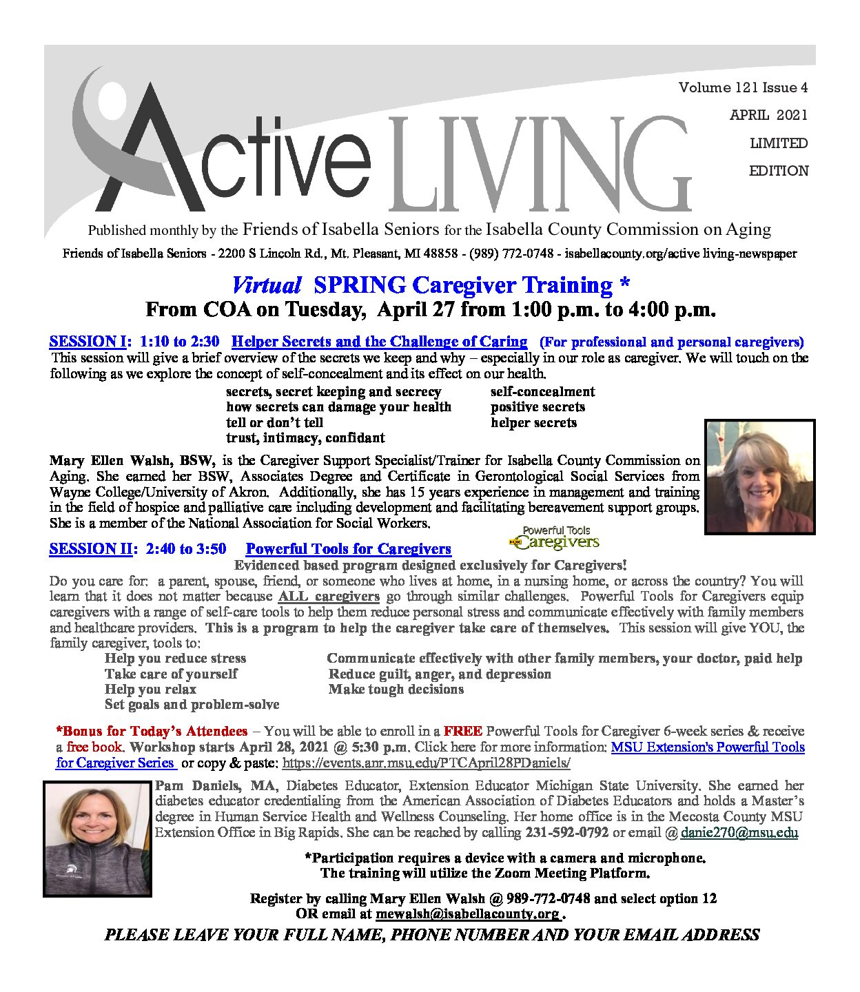 preview image of first page April 2021 Active Living