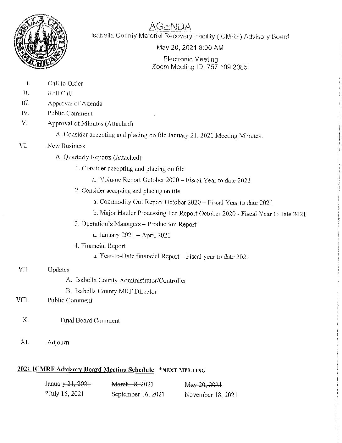 preview image of first page MRF Advisory Board Meeting Packet 5.20.2021