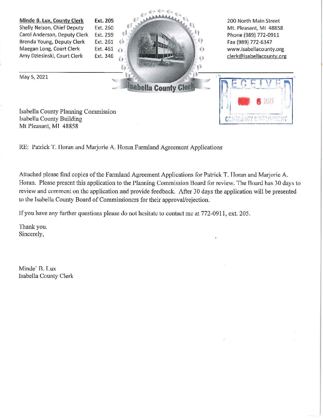 preview image of first page Farmland Agreement – PA116 – Patrick and Marjorie Horan – Isabella Township