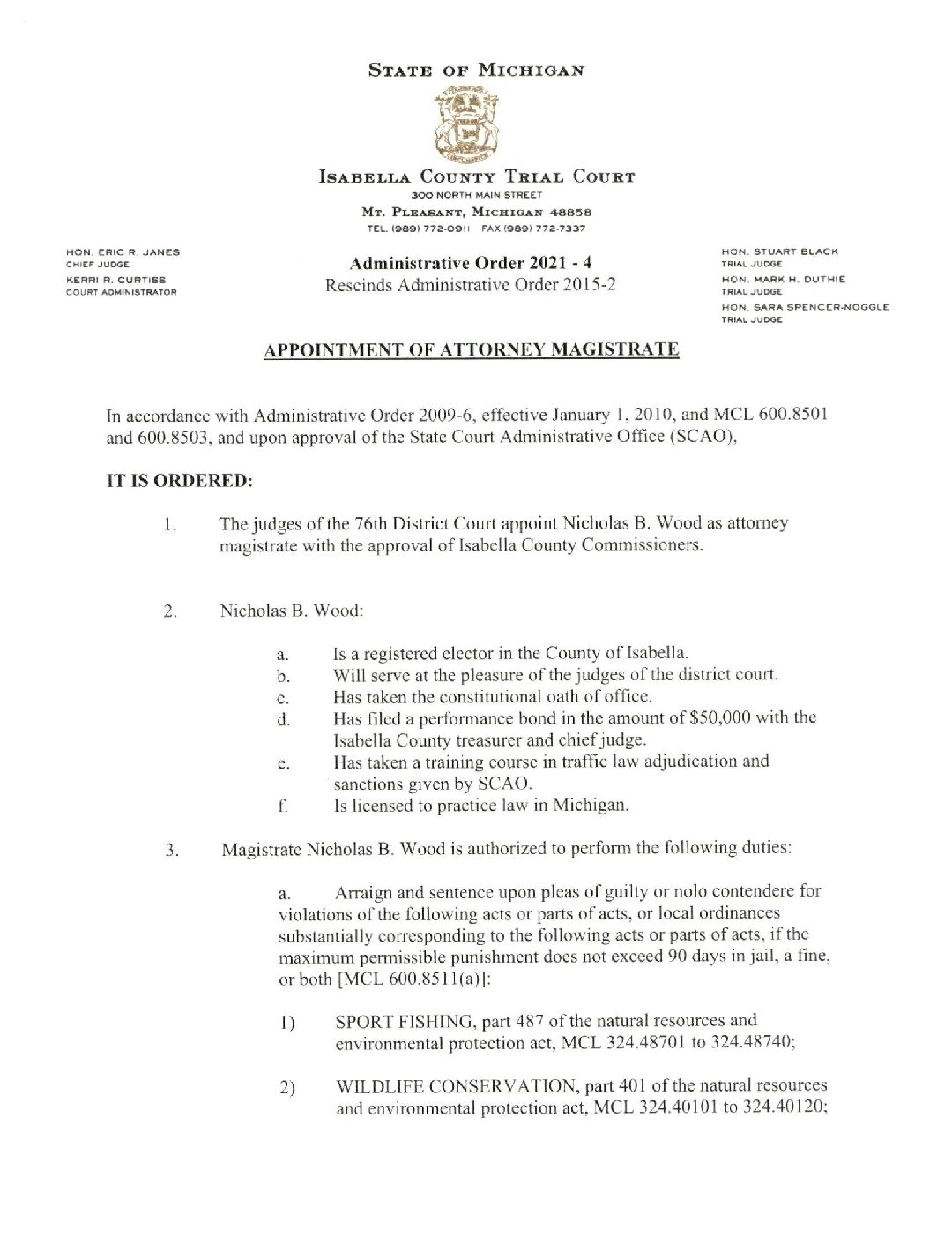 preview image of first page LAO2021-4-Appointment of Attorney Magistrate Nicholas B. Wood