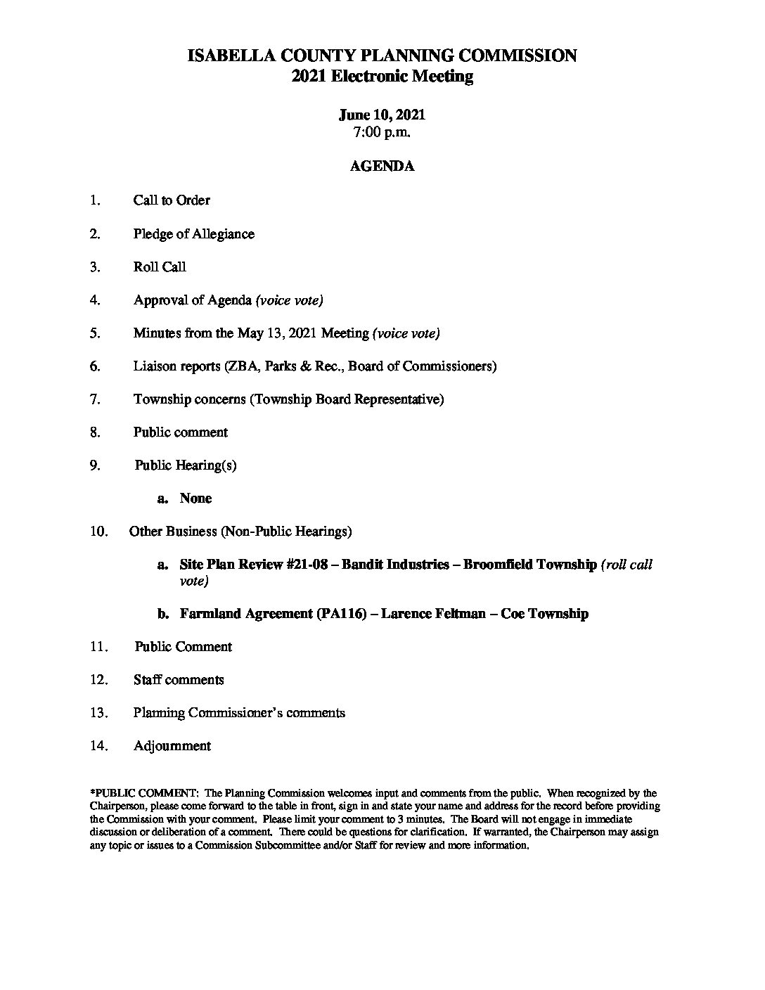 preview image of first page June 10, 2021 Agenda