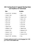 preview image of first page 2021 ZBA Meeting Dates and Deadlines