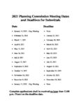 preview image of first page 2021 Planning Commission Meeting Dates and Deadlines