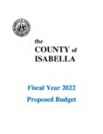 preview image of first page Fiscal Year 2022 Proposed Budget